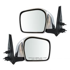 01-04 Toyota Tacoma Manual Chrome Mirror PAIR
