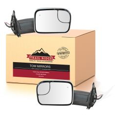 16-18 Toyota Tacoma Power, Heated w/TS & BSM Upgrade Flip Up Style w/Chrome Perf Tow Mirror PAIR