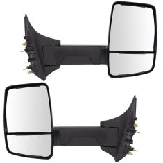 99-10 F250-F550; 00-05 Excursion (Long Arm, Dual Glass) Upgraded Manual Textured Black Mirror PAIR