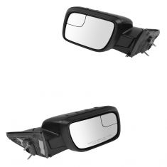 11-15 Explorer Pwr Folding, Htd, TS, Puddle Light ~EXPLORER~ Logoed PTM Dual Glass Mirr PAIR (Ford)