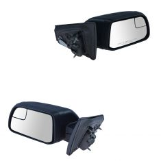 11(frm 1/24/11)-14 Ford Edge Power Textured Black w/Spotter Glass Mirror PAIR (Ford)