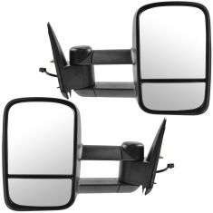 99-02 Silverado Sierra Power Heated Textured Black Tow Mirror Pair (Trail Ridge)