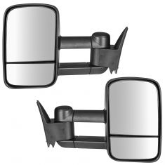 88-01 Chevy GMC C/K Pickup SUV Manual Upgrade Tow Mirror Pair (Trail Ridge)