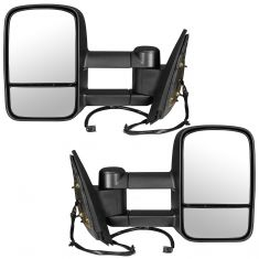07-14 GM Pickup SUV Power Heated Textured Black Tow Mirror Pair (Trail Ridge)