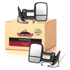 14-15 Silverado Sierra Power Heated Textured Black Tow Mirror Pair (Trail Ridge)