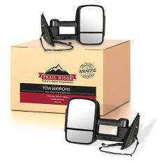 07-14 GM Pickup Power Heated Signal Textured Black Tow Mirror Pair (Trail Ridge)