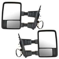 02-07 Ford SD PU Pwr Fold Heat TS Clr Txt Upgrade Tow Mirror Pair (Trail Ridge)