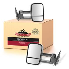 97-03 F150; 04 F150 Heritage; 97-99 F250LD Manual Textured Black Towing Mirror PAIR (Trail Ridge)