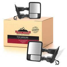 08-10 Ford SD Pickup Power Heated Smoked Signal/Clearance Textured Black Mirror PAIR (Trail Ridge)