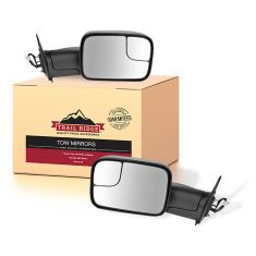 05-13 Toyota Tacoma Power Textured Black Towing Mirror PAIR (Trail Ridge)