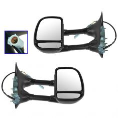 99-07 Ford Truck Power Dual Swing Arm Towing Mirror PAIR (Trail Ridge)