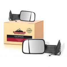 09-11 Dodge Ram 1500; 10-11 2500 3500 Power Heated Signal Puddle Lt Towing Mirror PAIR (Trail Ridge)