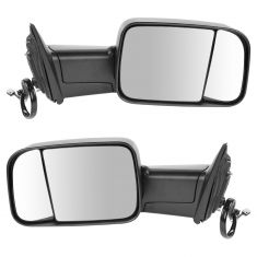 13-15 Ram 1500; 13-15 2500/3500 Power Heated Signal Puddle LH Temp Text Mirror PAIR (Trail Ridge)