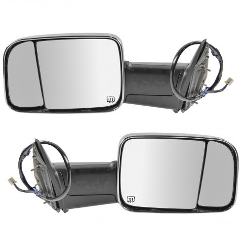 Trail Ridge Towing Mirror Power Heated Signal Puddle Textured Black RH for Ram