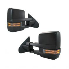 14-16 GM 1500;15-16 2500/3500 Pwr Smk TS/Mrk Spotlight w/o RH OAT Text Blk Mirror PAIR (Trail Ridge)