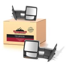 04-06 F150; 06 Mark LT Power Heated Signal Textured Black Tow Mirror PAIR (09 Style) (Trail Ridge)