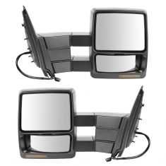 03-10 Ford Expedition Power Heated Signal Memory Puddle Text Black Towing Mirror PAIR (Trail Ridge)