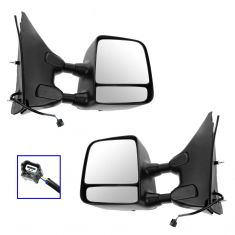 05-15 Nissan/Suzuki PU/SUV Power Textured Black & Chrome Towing Mirror PAIR (Trail Ridge)