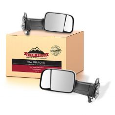 98-01 Ram 1500;98-02 2500/3500 Power Heat Text Black Tow Mirror w/Brkt 4th Gen Hd PAIR (Trail Ridge)