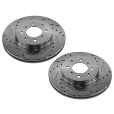 90-05 Acura; 90-10 Honda Multifit Front Performance Disc Brake Rotor Pair