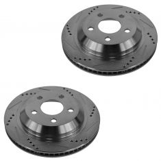 98-02 Chevy Camaro; Pontiac Firebird, Trans Am Rear Performance Disc Brake Rotor Pair