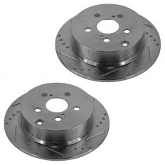 03-06 Vibe; 05-10 Scion tC; 00-06 Toyota Rear Performance Disc Brake Rotor Pair