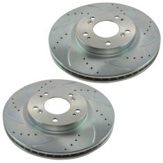 07-10 Chrysler Dodge Jeep Mitsubishi Multifit Front Performance Brake Rotor Pair
