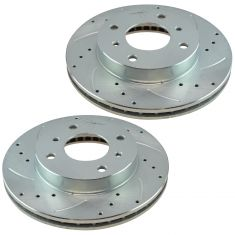 91-96 G20; 89-98 240SX; 00-06 Sentra Front Performance Brake Rotor Pair