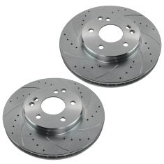 99-05 C230 C240 SLK230 96-00 C280 96-97 E300 Front Performance Brake Rotor Pair