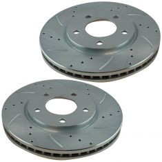 2001-07 T&C Gr Voyager Caravan W/Rear Drums Performance Brake Rotor Front Pair