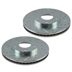 01-05 Sebring Eclipse 01-15 Galant Lancer Front Performance Brake Rotor Pair