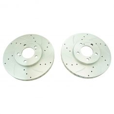 1996-06 Taurus Tbird Continental Cougar Sable Front Performance Brake Rotor Pair
