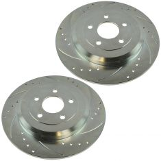 05-12 Ford, Lincoln, Mercury FWD Multifit Rear Performance Brake Rotor Pair