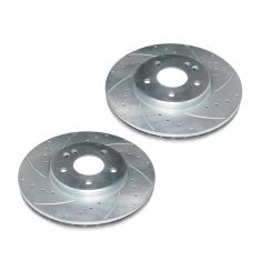 04-08 Crossfire; 03-07 MB C; 99-09 CLK; 96-02 E; 01-11 SLK Series Front Performance Brake Rotor Pair