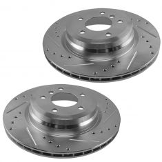 06-13 BMW 3 Series; 13-15 X1 Rear Performance Brake Rotor Pair