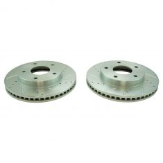 79-85 Buick, Cadillac, Chevy, GMC, Multifit Front Performance Brake Rotor Pair