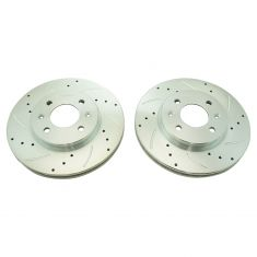 12-16 hyundai Accent, Kia Rio Front Performance Disc Brake Rotor Pair