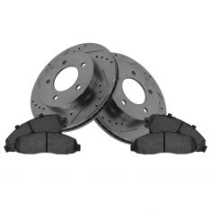 Front Performance Rotor & Posi Metallic Pad Kit 00-04 F150