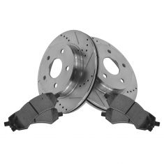 Front Performance Rotor & Posi Metallic Pad Kit 02-05 Ram 1500