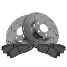 Front Performance Rotor & Posi Metallic Pad Kit 05-10 300; 09-13 Challenger