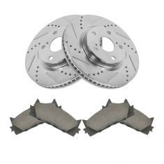 Front Performance Rotor & Posi Ceramic Pad Kit 07-11 Camry; 07-13 Lexus