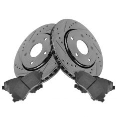 Front Performance Rotor & Posi Ceramic Pad Kit 08-12 Caravan; 09-13 Journey