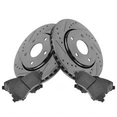 Front Performance Rotor & Posi Metallic Pad Kit 08-12 Caravan; 09-13 Journey