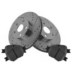 Front Performance Rotor & Posi Ceramic Pad Kit 05-10 Scion tC; 00-05 Celica