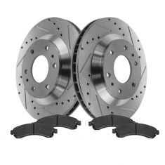 Front Performance Rotor & Posi Ceramic Pad Kit 02-05 Trailblazer, Envoy, Rainier