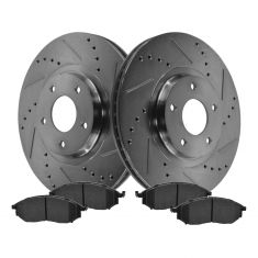 Front Performance Rotor & Posi Ceramic Pad Kit 06-12 Nissan 350Z, 370Z