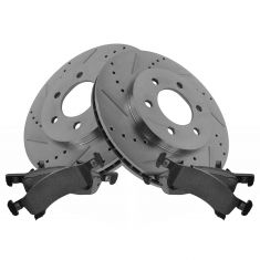 Front Performance Rotor & Posi Metallic Pad Kit 02-06 Expedition, Navigator