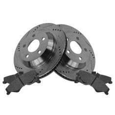 Rear Performance Rotor & Posi Metallic Pad Kit 98-02 Camaro, Firebird