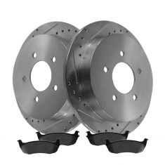 Rear Performance Rotor & Posi Metallic Pad Kit 97-04 F150; 97-02 Expedition