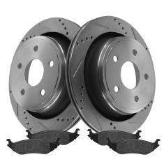 Rear Performance Rotor & Posi Metallic Pad Kit 02-05 Dodge Ram 1500